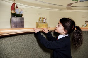 This little girl was mesmerized by the displays. She reminded me of myself when I first discovered miniatures.