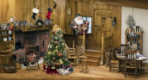 Every year Charles Tebelman's room box magically transforms into Santa's North Pole home.